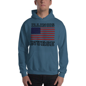 Illinois Nurse Hooded Sweatshirt (Unisex)