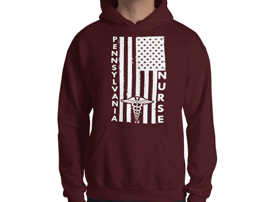 Pennsylvania Nurse Hooded Sweatshirt (Unisex) - Stir Crazy Gifts