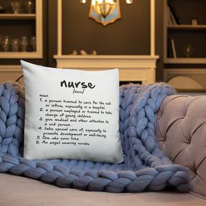 Nurse Meaning Premium Pillow 18x18 - Stir Crazy Gifts