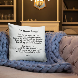 Nurse Prayer Premium Pillow 18x18