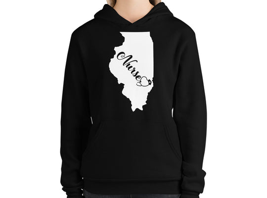 Illinois Nurse State Women's Hoodie - Stir Crazy Gifts