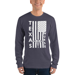 Texas Nurse Long Sleeve T-shirt (Unisex)