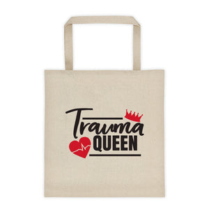 Personalized Trauma Queen Canvas Tote bag