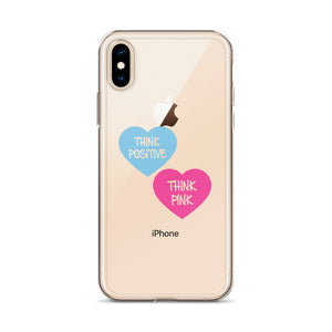 Think Pink Hearts iPhone Case 6 Plus/6s Plus, 6/6s, 7 Plus/8 Plus, 7/8, X/XS