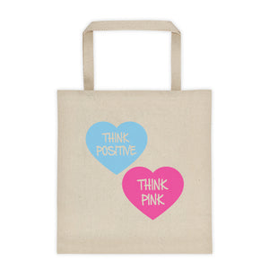 Think Pink Hearts Tote Bag