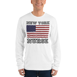New York Nurse Long Sleeve T-shirt (Unisex) - Stir Crazy Gifts