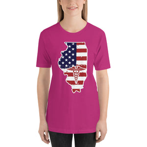 Illinois State Nurse Short-Sleeve Women's T-Shirt - Stir Crazy Gifts