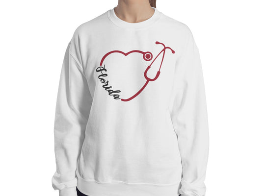 Florida Nurse Stethoscope Women's Sweatshirt - Stir Crazy Gifts