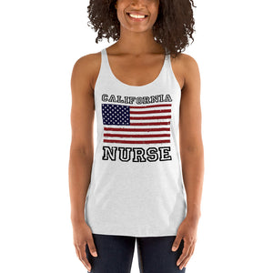 Nurse in California Women's Racerback Tank - Stir Crazy Gifts