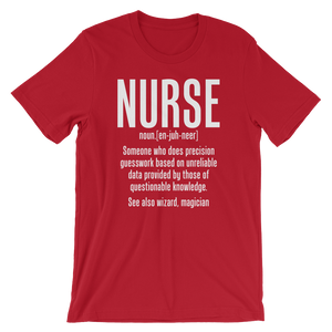 Definition of Nurse Wizard Magician Medical T-Shirt
