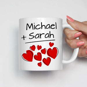 Personalized His and Her Couples Wedding Gift Mug, I love my Husband Wife Mom and Dad Romantic Coffee Cup, Printed on Both Sides!