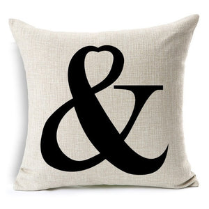 Cushion Cotton Linen 45*45cm Pillow Case Throw Couch Bed Home Mr & Mrs Pillowcases Romantic Valentine's Day Gif