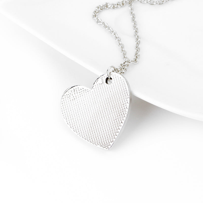 "Teachers Appreciation Gift  Heart Pendant Necklace - ""It takes a big heart to teach little minds"""