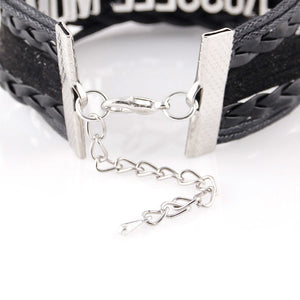 Nurse Infinity Love Charm Leather Wrap Bracelet - Stir Crazy Gifts