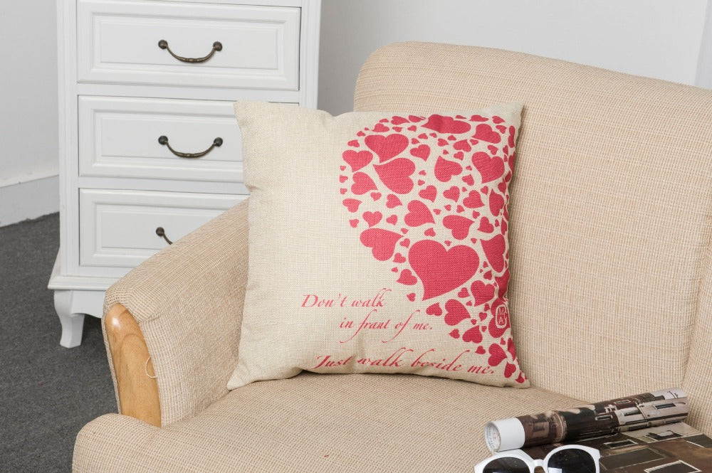 Red half a heart home Textile Romantic Pillowcases For Home Pillow Case/Cover Valentine's Day Gift