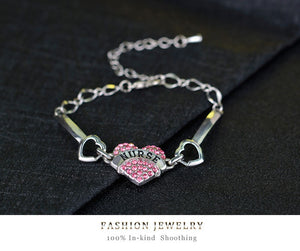 Nurse Crystal Charm Heart Bracelet - Stir Crazy Gifts