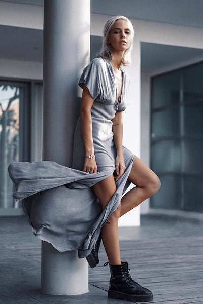 Gia dress grey stonewash