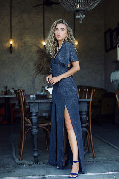 Gia dress Black stonewash