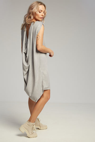 Drop dress grey stonewash