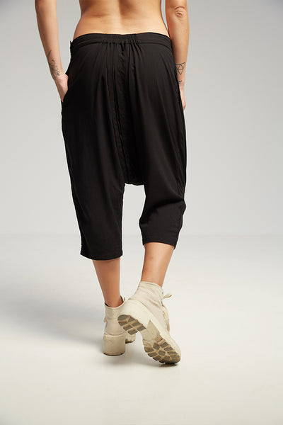 Pleats shorts black