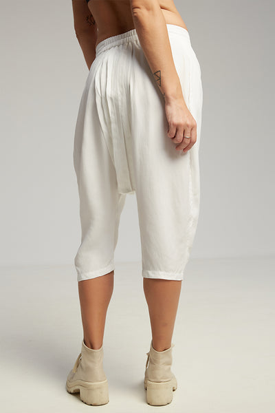 Pleats shorts white