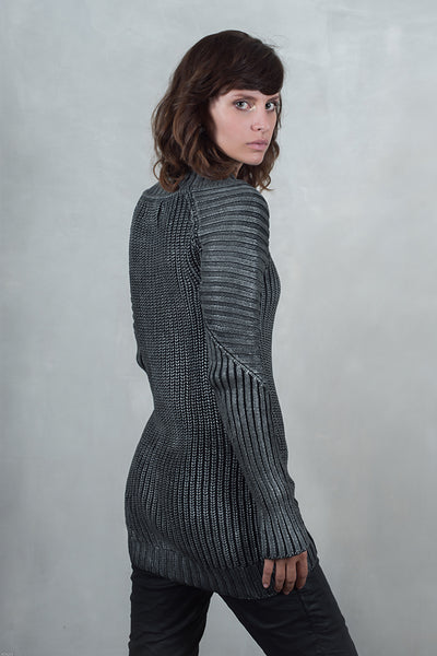 Silver sweater long