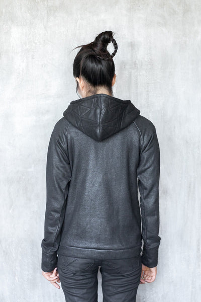 Triangular cotton hoodie