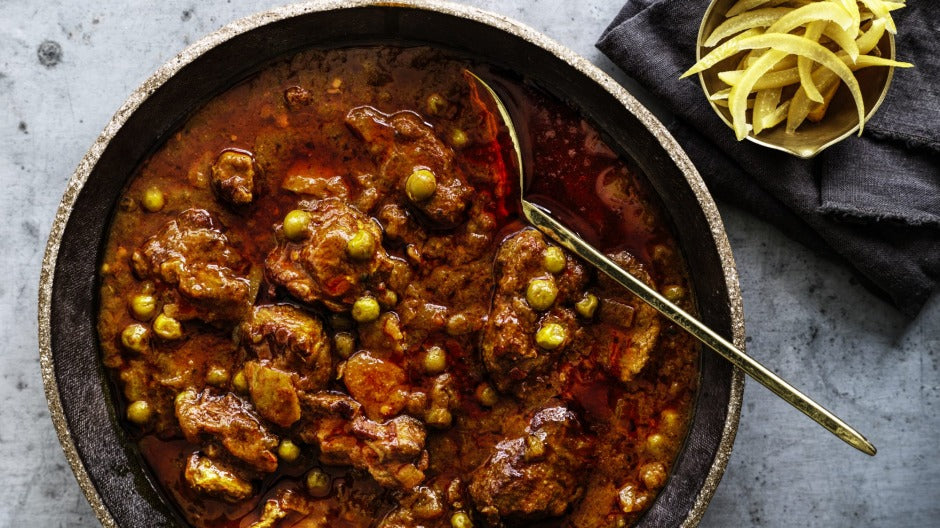 RECIPE | HEARTY BRAISED LAMB, TURMERIC, PEAS AND PRESERVED LEMON
