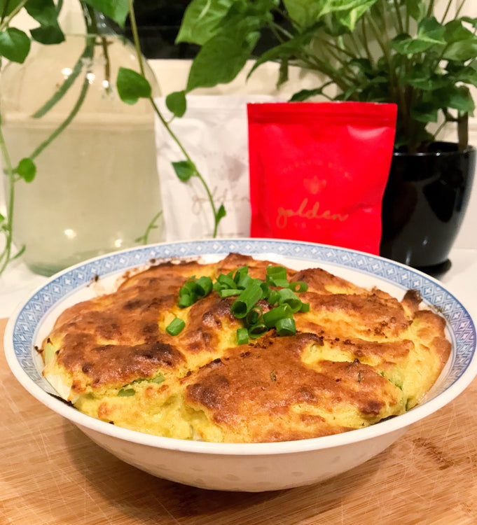 Golden Vegan Cauliflower Cheese