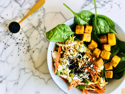 simple salt and pepper tofu - turmeric by golden grind