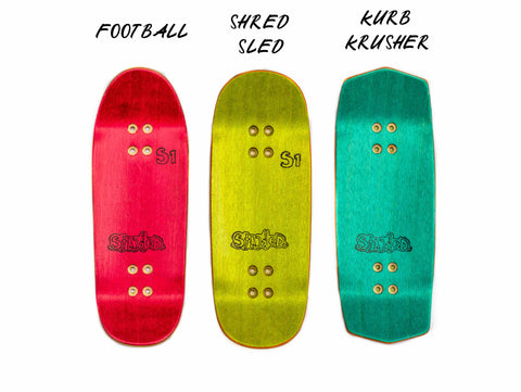 STACKED DECK FINGERBOARDS DECKS SHAPES, POPSICLE, KURB KRUSHER, KURB SLED, RADICAL FINGERBOARDS