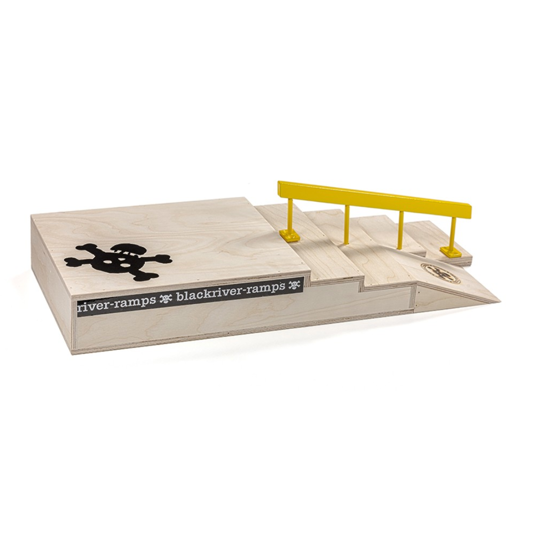 Blackriver ramps - Stairset Square Rail Yellow