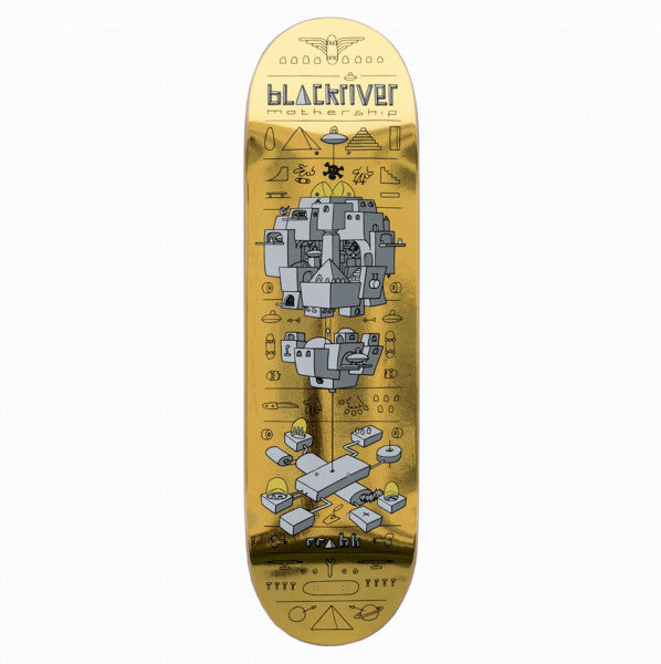 Blackriver Skateboard - Mothership Gold 8.5""