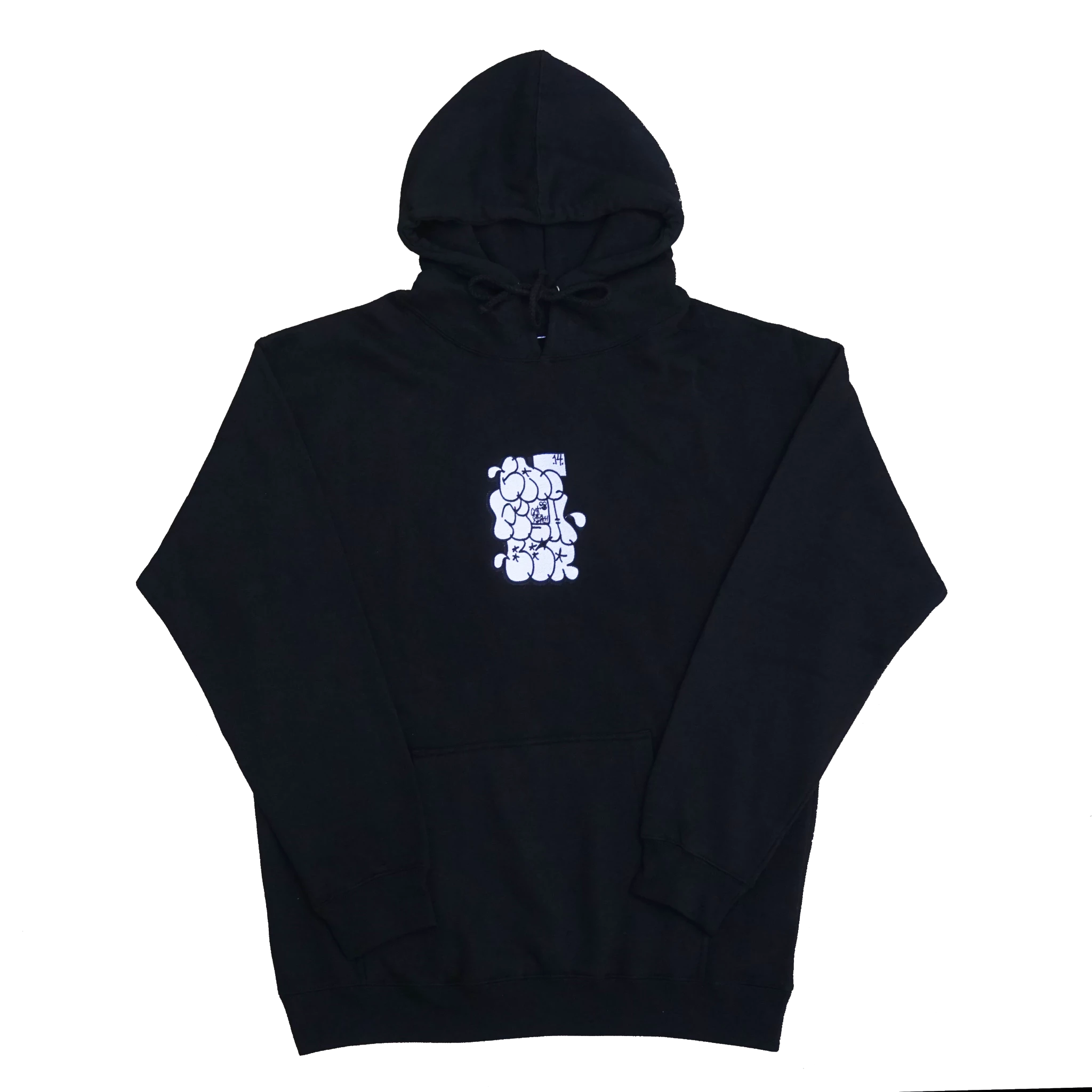 CatfishBBQ - Embroidered Graffiti Black Throw Hoodie
