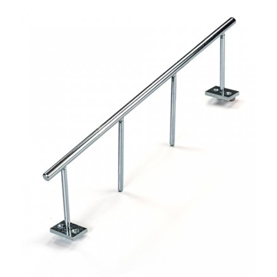 Blackriver ramps - Stairset Rail Round Silver Single