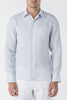 1609B Sam Linen L/SL Shirt - Blue
