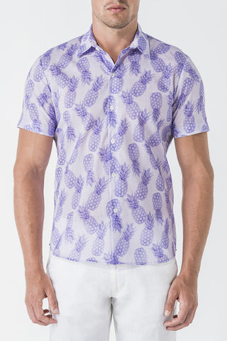 1707C Pineapple Print S/SL Shirt