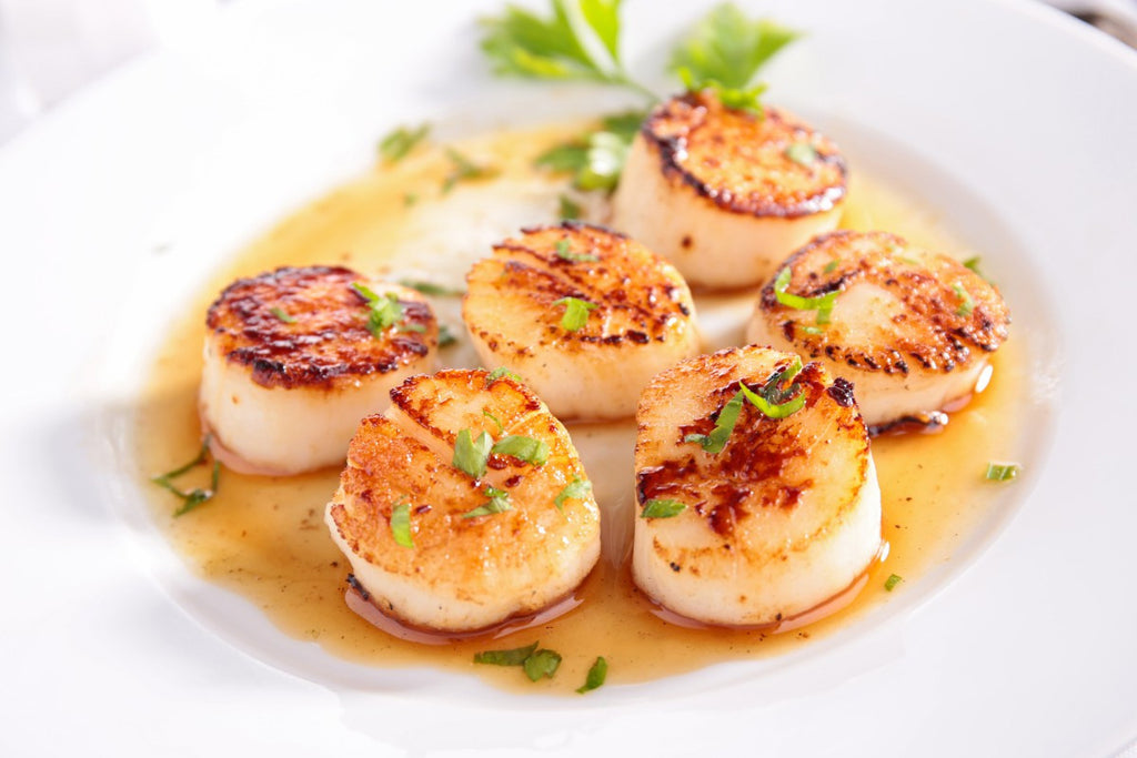 Scallops with roe