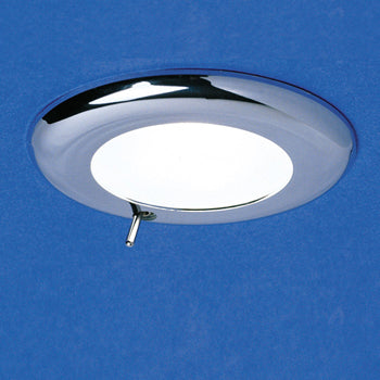Recessed Switched Ceiling Halogen Downlight (Chrome)