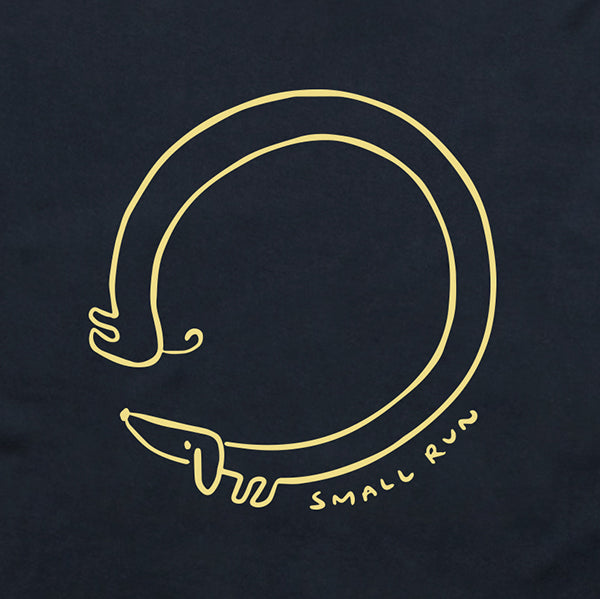 Small Run Dachshund Tee - Navy T-shirt