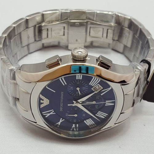 Emporio Armani AR1635 Gents Armani Stainless Steel Blue Dial Watch AR2