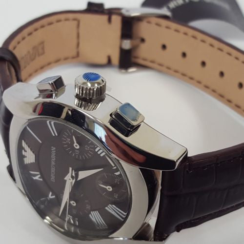 Stunning Brown Stainless Steel Chronograph Ladies Watch by Emporio Armani AR0672