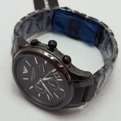 Emporio Armani AR1452 Gents Chronograph Black Ceramic Watch AR2