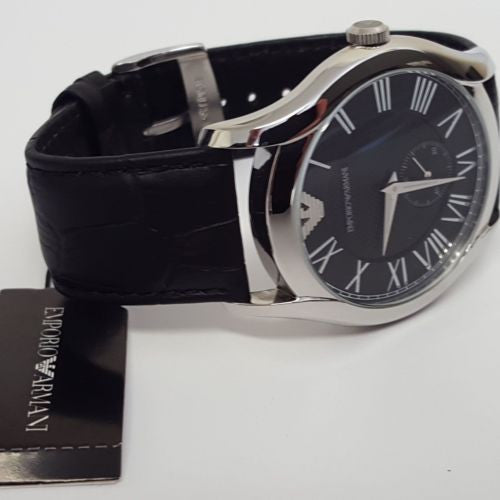 Gents Calfskin Mineral Stainless Steel Case Leather Watch Emporio Armani AR1703