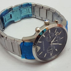 Emporio Armani AR2448 Gents Armani Classic Blue Dial Stainless Steel Watch