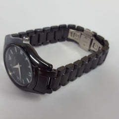 Elegant  Superslim Stainless Steel Ceramica Watch by Emporio Armani AR1441