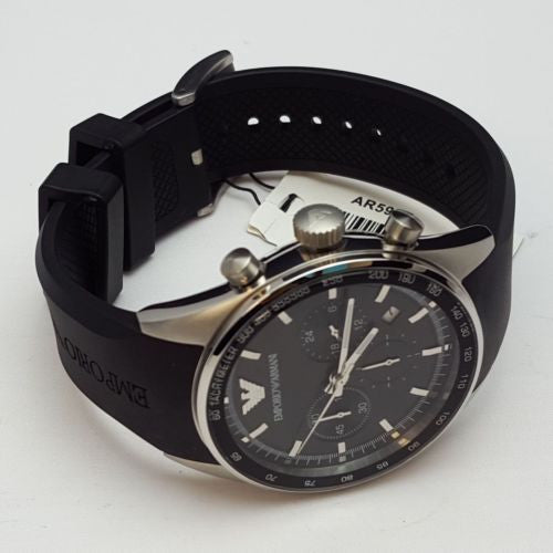 Emporio Armani Men's Sportivo AR5977 Black Strap Quartz Watch BOXED NEW AR2