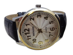 Henley H02094.2GL Men's Genuine Leather Quartz Watch Genuine Leather Strap A01A