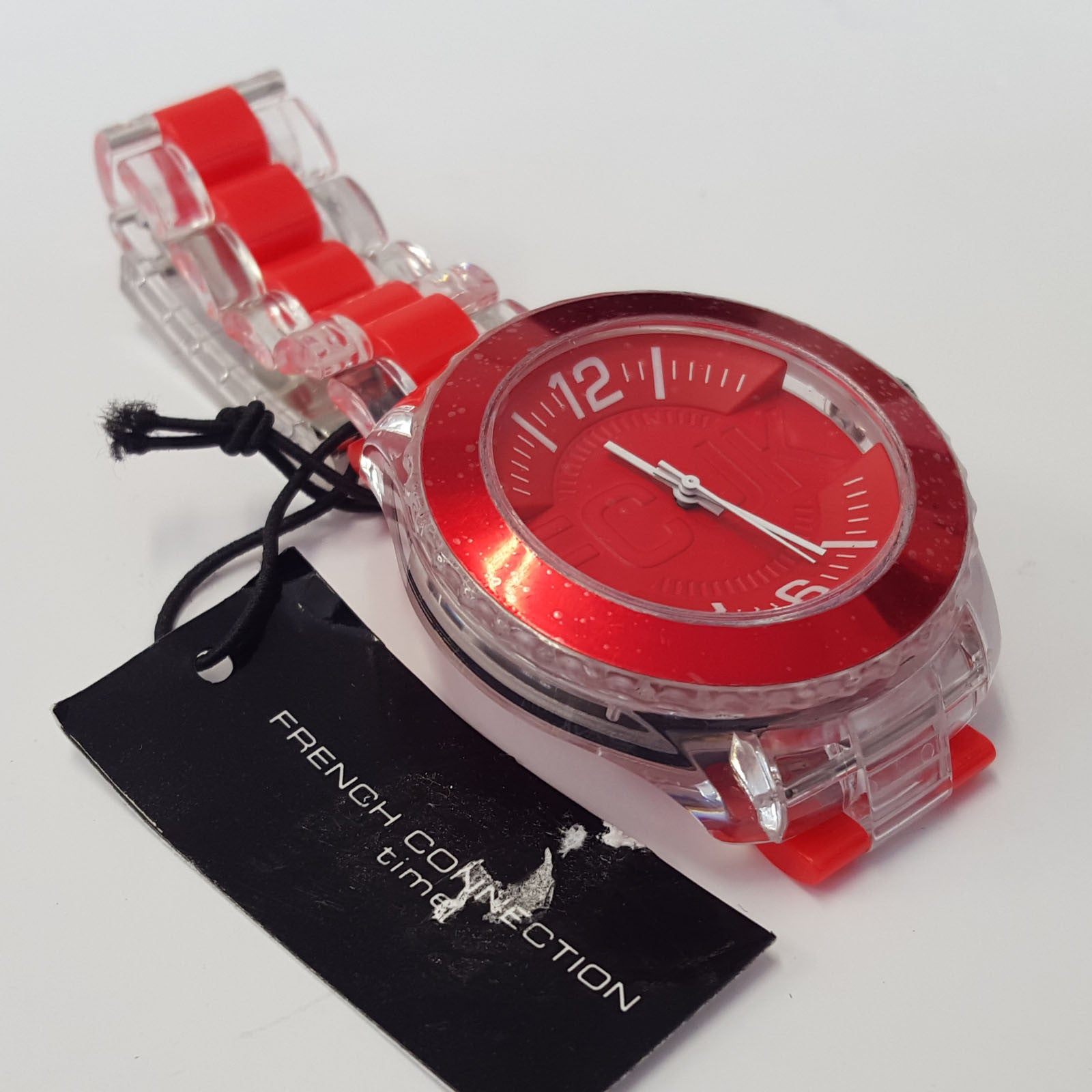 Mens Red Bracelet Fashion Quartz Watch by French Connection FCUK FC1128PW