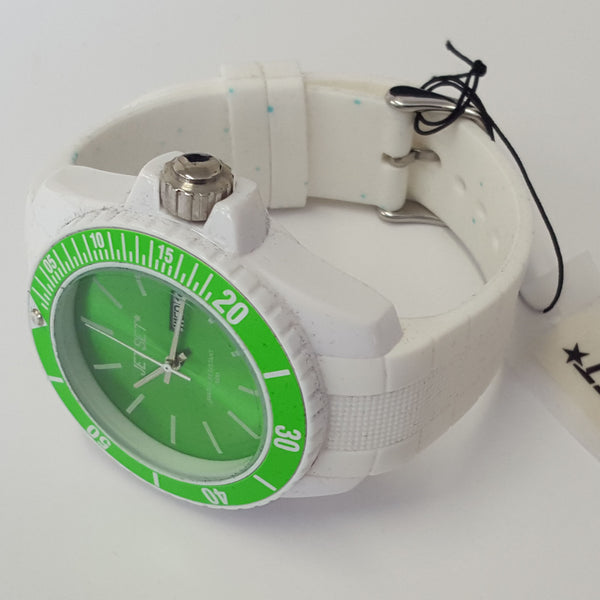 Mens Jet Set With White Rubber Strap Bubble Green Dial Fashion Watch J83491-18
